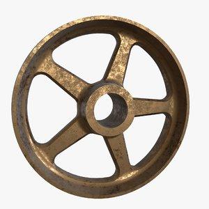 bronze wheel spokes 3D model