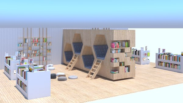 childrens reading area 3D model