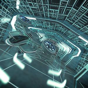 3D model sci-fi science fiction