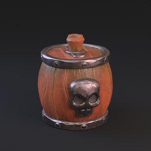 skull barrel 3D model