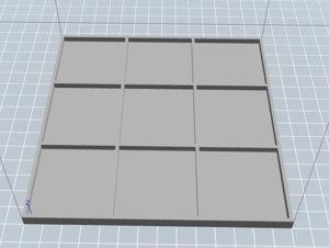 3D family tic tac toe model