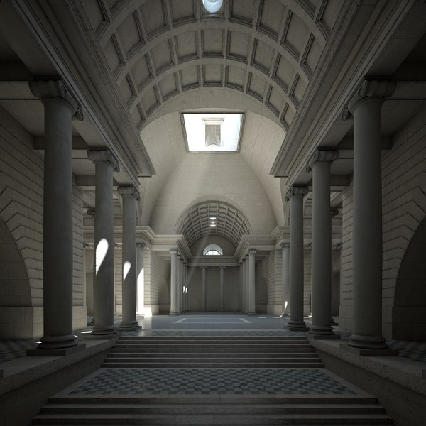 classical building 3d model
