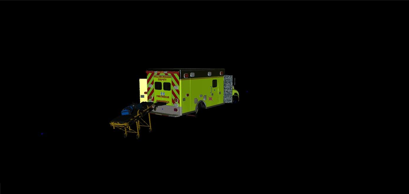 3D model Hillsborough County Ambulance (GTA V)