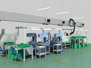 3D model factory production line