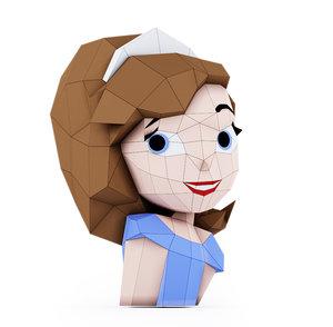 princess papercraft 3D model