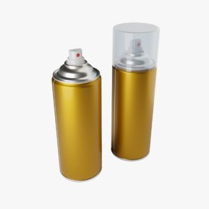 spray aerosol container 3D