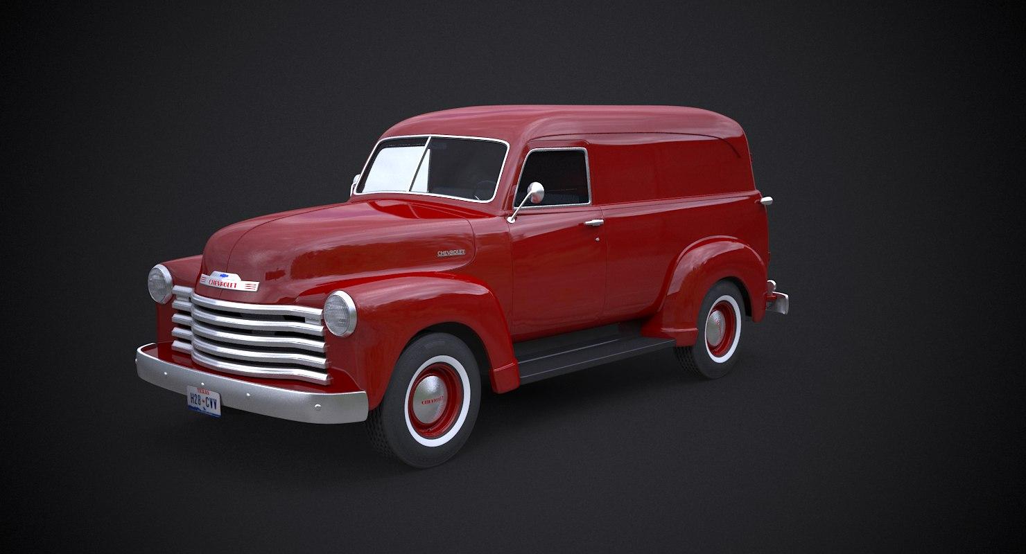 3D model express chevrolet van 1951