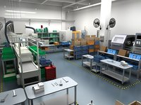 Factory Interior Scene and Equipment 2