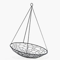 hanging oval black model