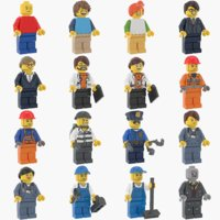 lego minifigures figure 3D model