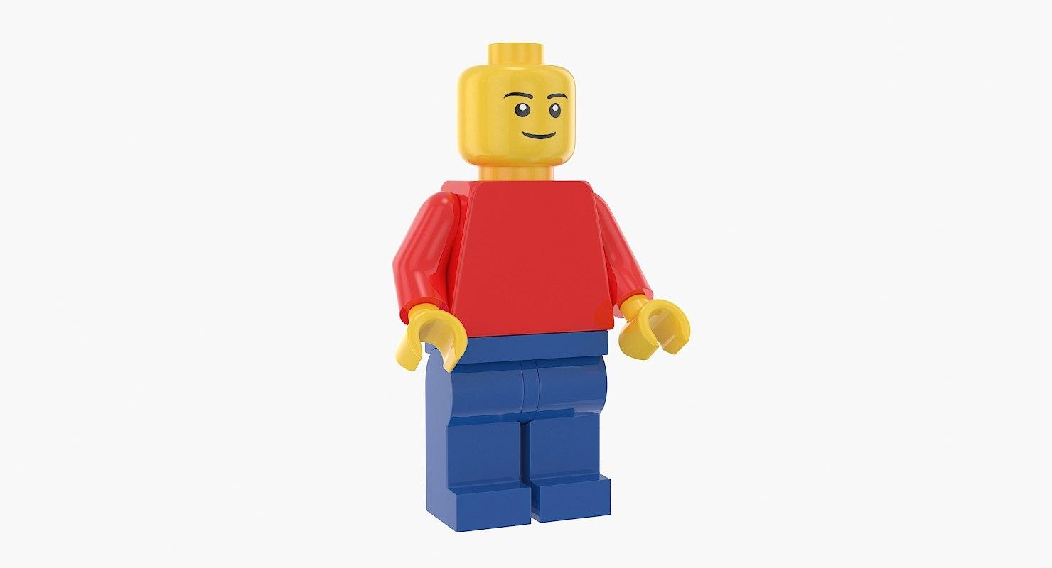 lego minifigures figure 3D model
