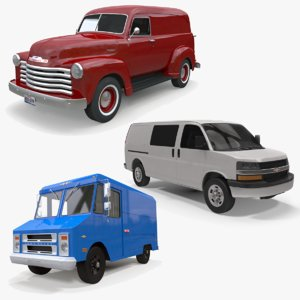 3D model express chevrolet van 1951