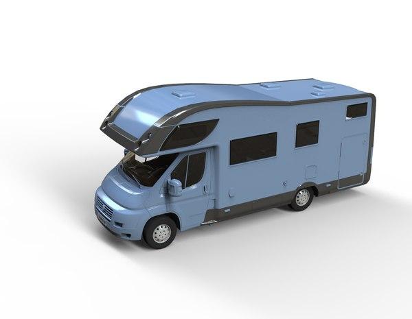 3D model recreational motorhome