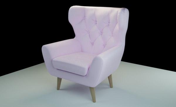 voss armchair 3D