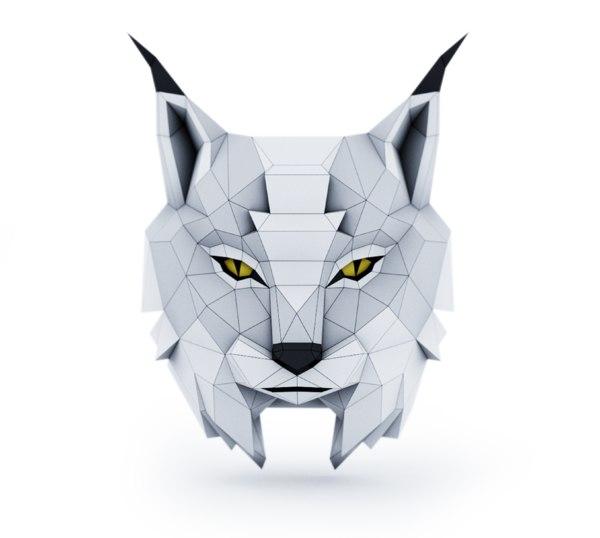 3D head lynx