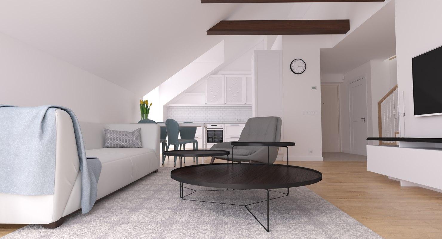 apartment interior 3D