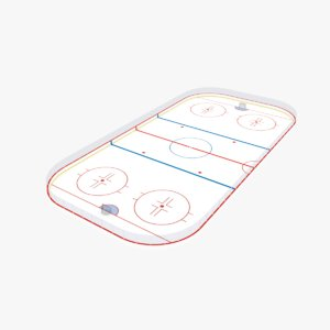 3D ice hockey rink model