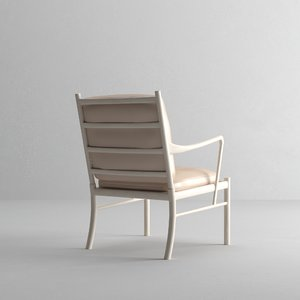 3D carl hansen colonial chair