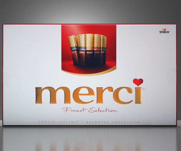 3D merci chocolates model