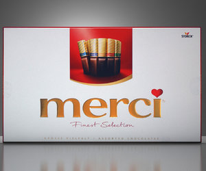 3D merci chocolates model