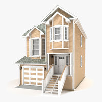 3D two-story cottage 71