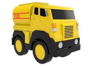toy truck tanker 3D model