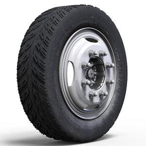 3D truck wheel model