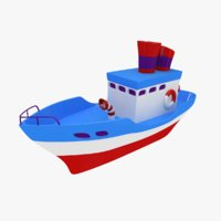 toy boat 3D model