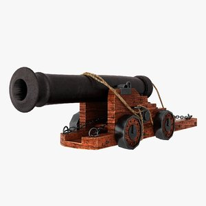 3D vessel cannon model