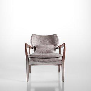 3D hampton armchair
