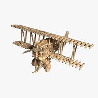 Toy airplane plywood