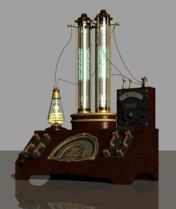 3D steampunk machine 2 model