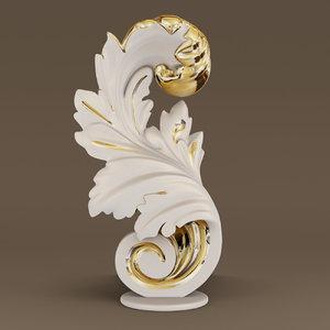 3D acant statue