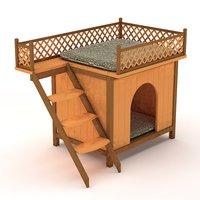 3D model dog cat house