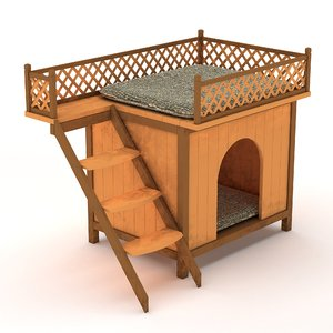 3D model dog cat house