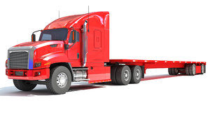 freightliner heavy truck flatbed 3D