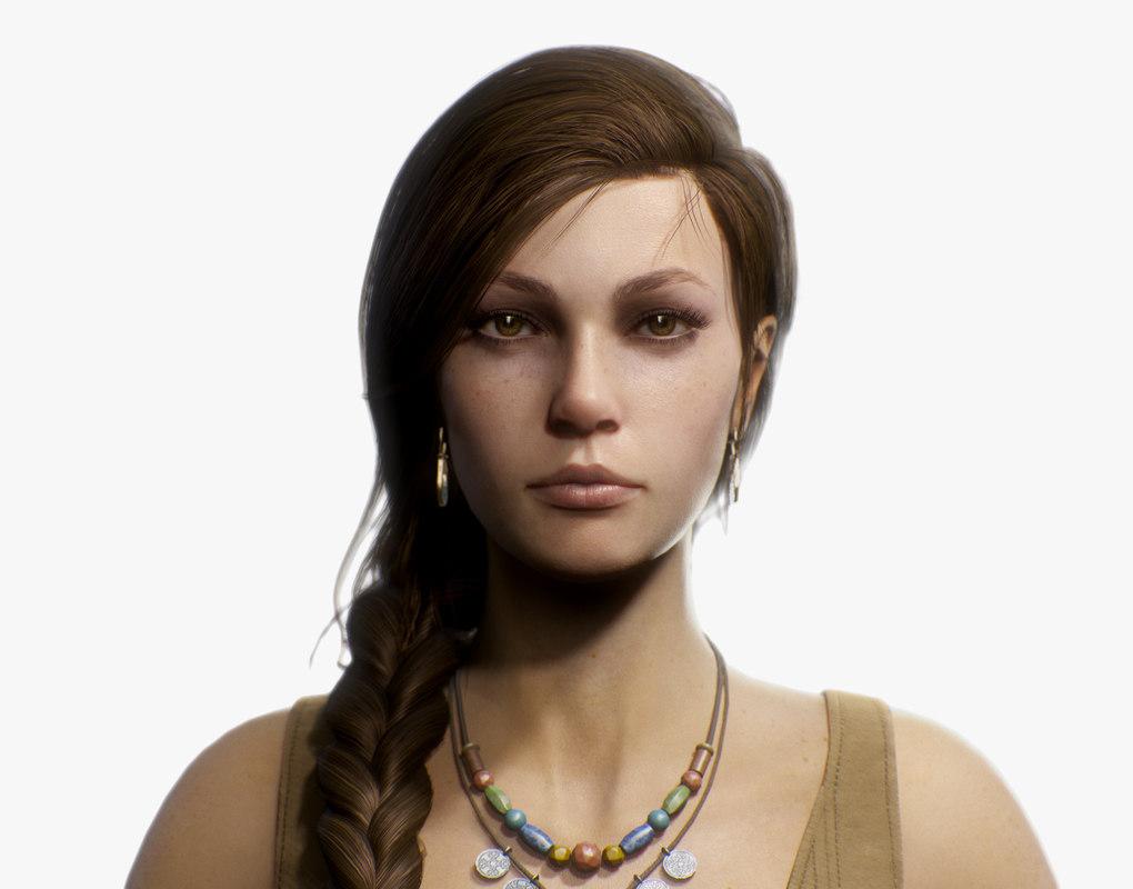 3D model fantasy girl