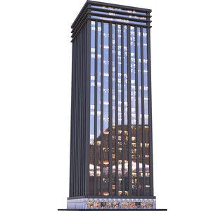 3D architectural buildings highrise model