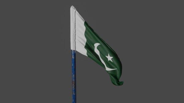 pakistan flag 3D