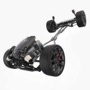 3D lexus lc 500 suspension