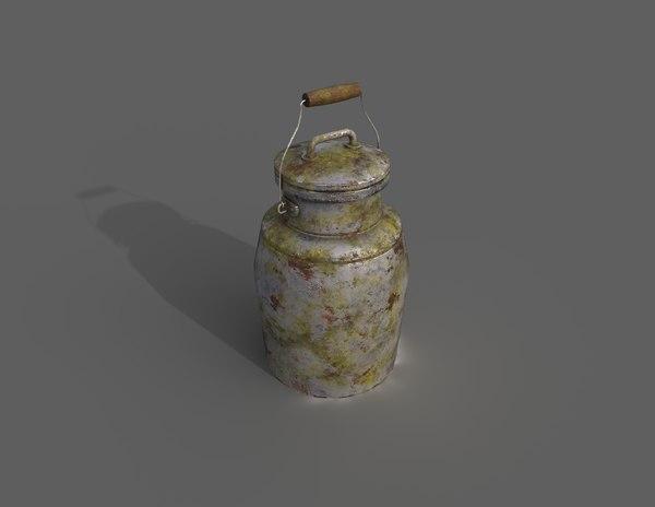 3D milk jug