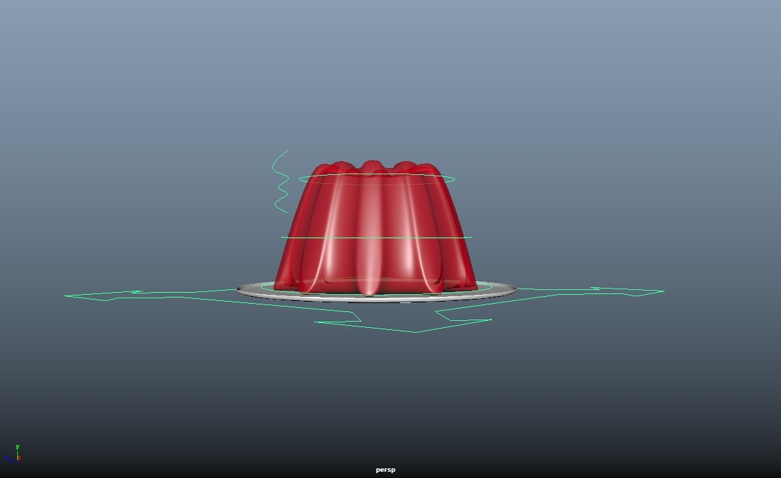 red jelly plate 3D model