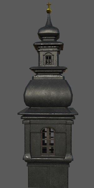 3D church tower