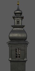 3D church tower