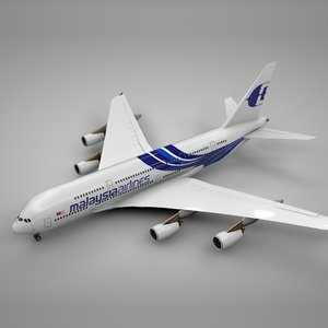 3D airbus a380 malaysia airlines