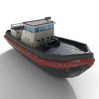 3D ship tug tugboat model