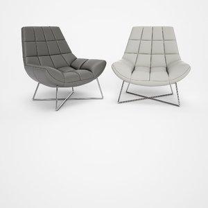 canio leather armchair 3D model