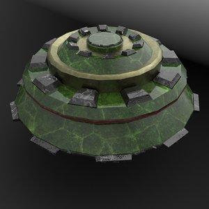 3D glas model