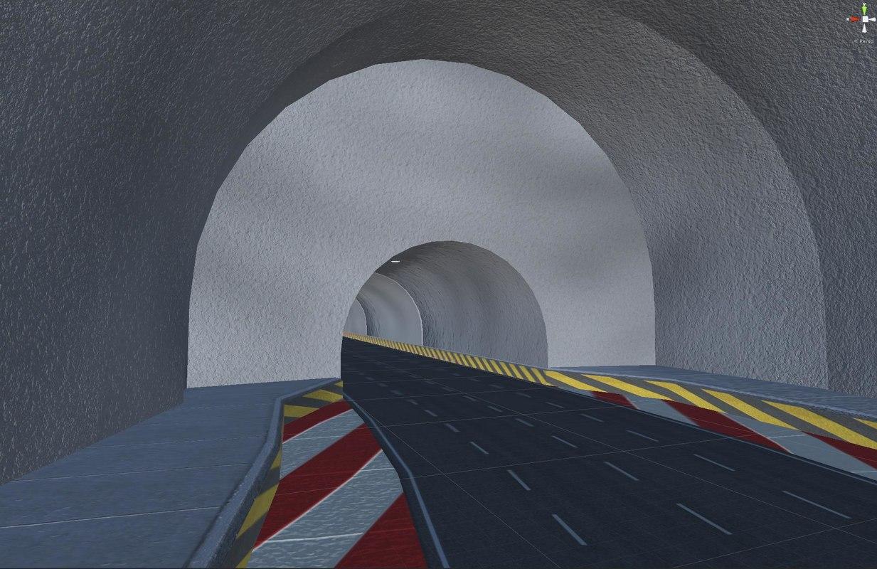 road crossroad tunnel model