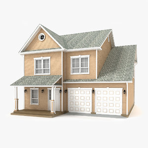 two-story cottage 69 3D model